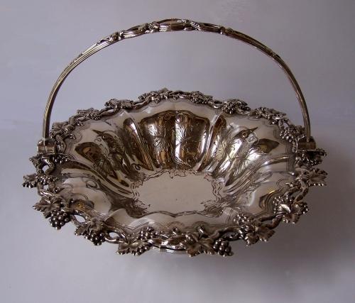 Frutero antiguo de baño de plata Victoriana