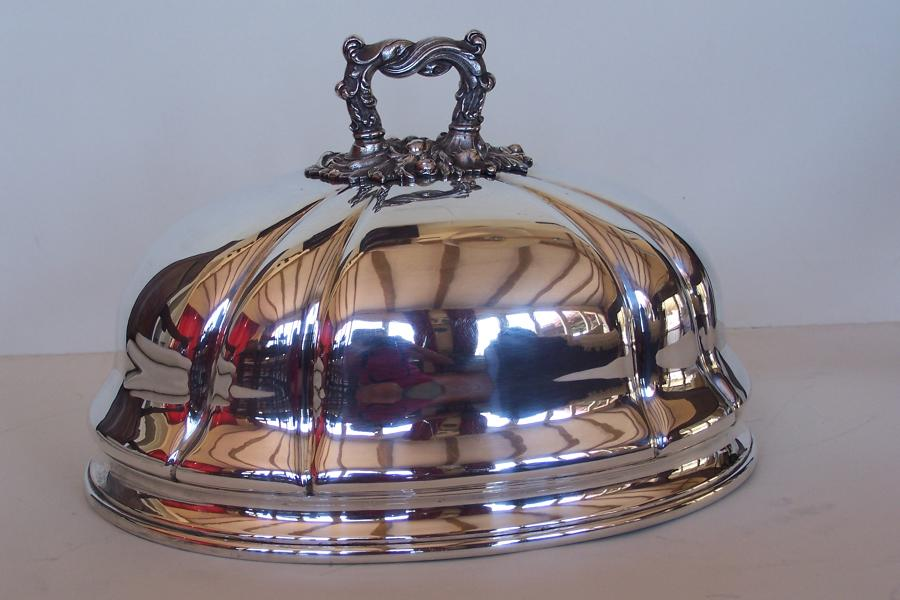 19th century silver plated meat dome