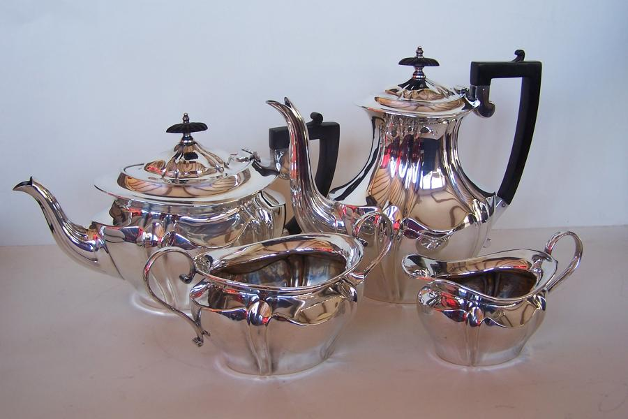 Antique silver plated teaset