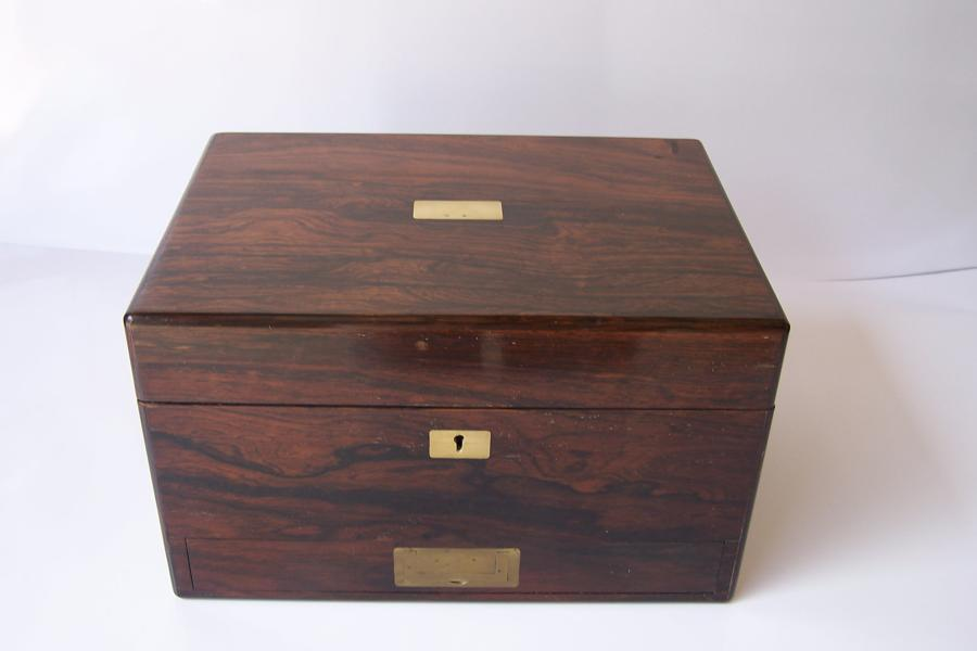 Antique Victorian rosewood vanity box