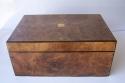 Caja escritorio antigua inglésa con papelera - picture 1