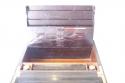 Caja escritorio antigua inglésa con papelera - picture 3