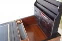 Caja escritorio antigua inglésa con papelera - picture 7