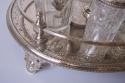Antiguo juego de vinagrera de baño de plata - picture 2