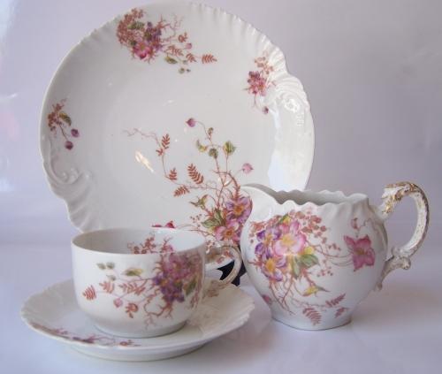 Juego de té antiguo de Limoges