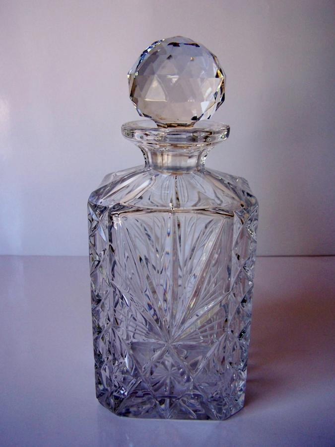 Antique vintage crystal whisky decanter