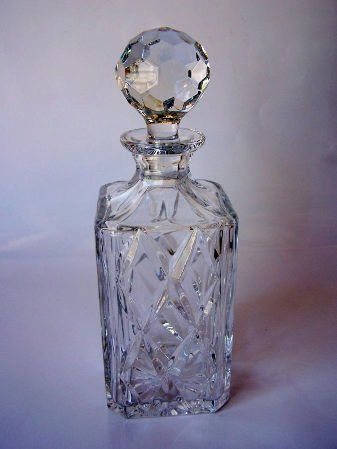 Vintage English crystal decanter