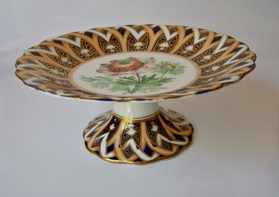 19th century Victorian Coalport china tazza