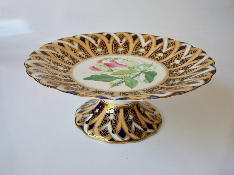 19th century Victorian Coalport china tazza