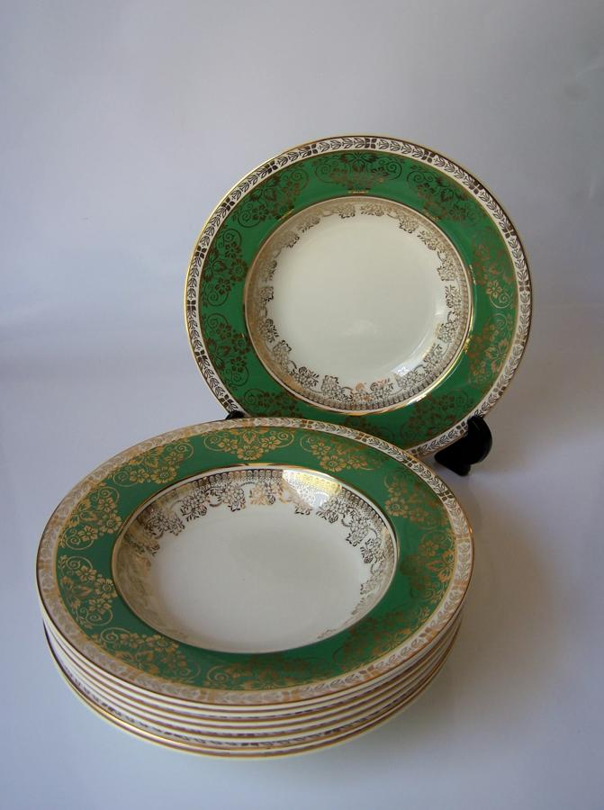 Set of Crown Ducal soup bowls