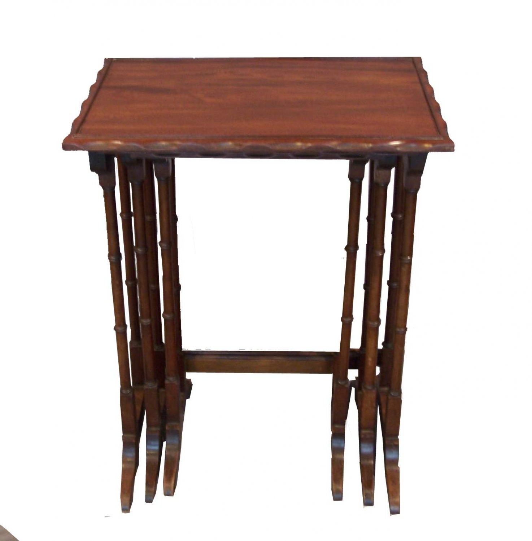 Mesas nido antigua ingl sa in mesas de comedor y mesitas - Mesas auxiliares clasicas ...
