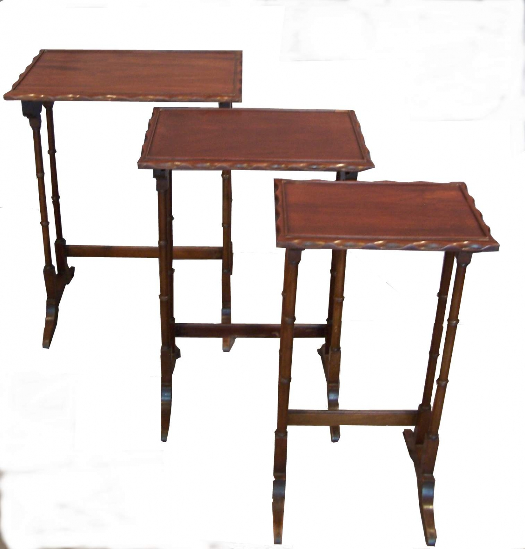 Mesas nido antigua ingl sa in mesas de comedor y mesitas - Mesas de comedor antiguas ...