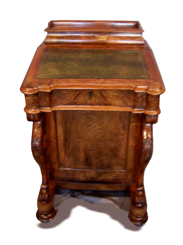 Victorian Burr Walnut Davenport Writing Desk Picture 1