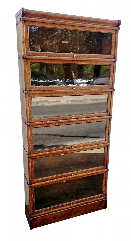 Globe Wernike sectional oak bookcase