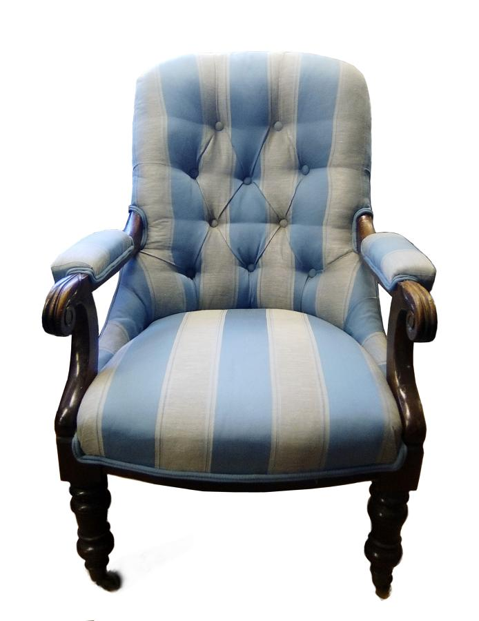 Victorian antique upholstered armchair