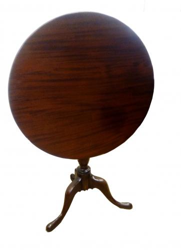 Mesa de velador de caoba siglo XVIII