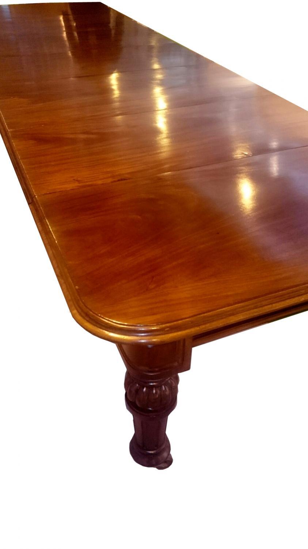 Antigua mesa de comedor grande de caoba in mesas de - Mesa comedor antigua ...