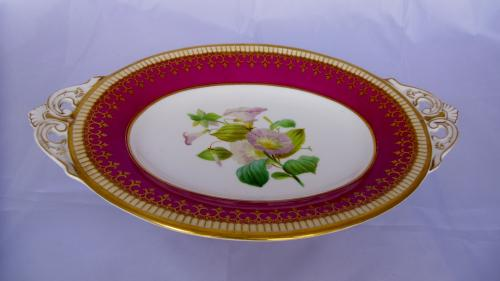 Pedestal ceramic dish