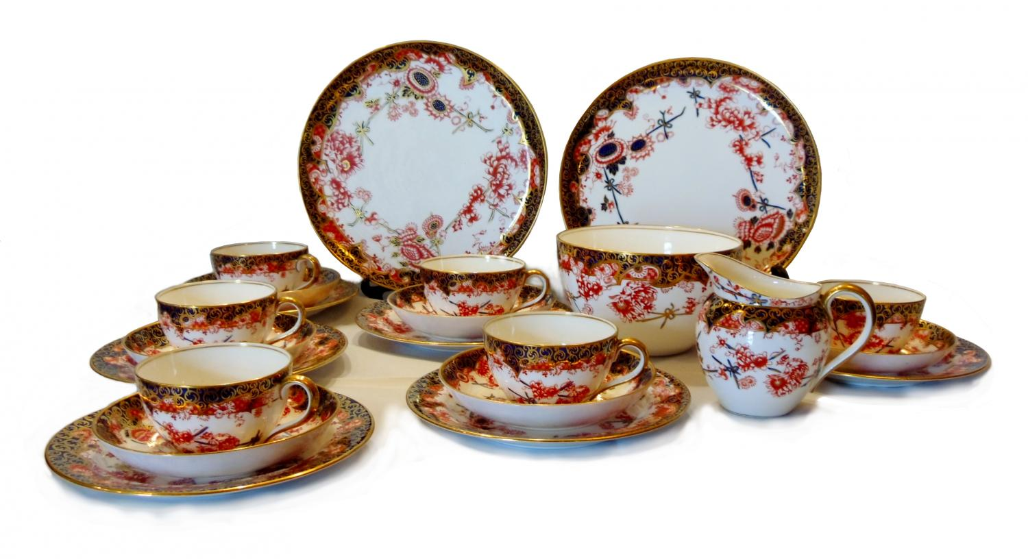 royal crown derby teaset in ceramics