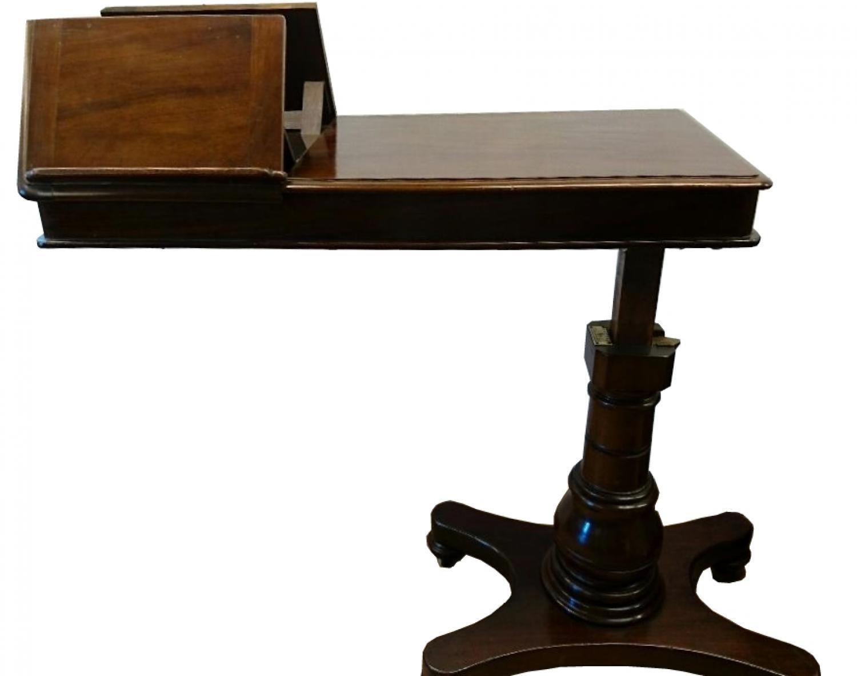 Victorian mahogany reading table