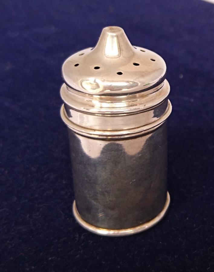 Edwardian silver pepper shaker