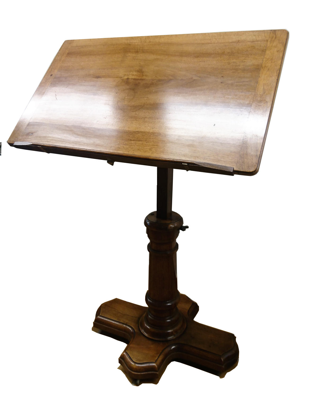 19th century walnut lectern/reading table