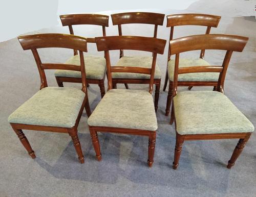 Six Victorian mahogany dining chairs