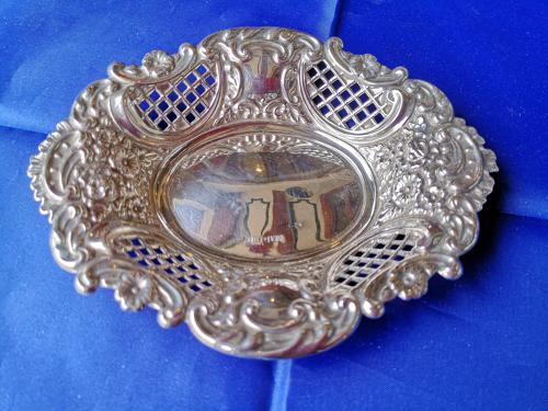 Silver embossed dish