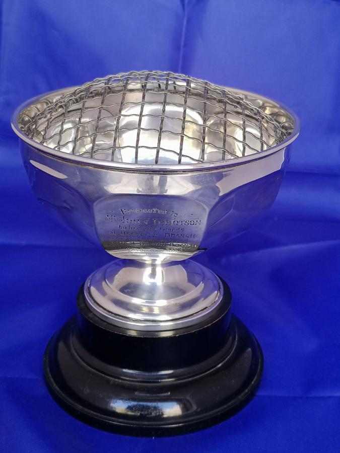 Antique Edwardian silver rosebowl