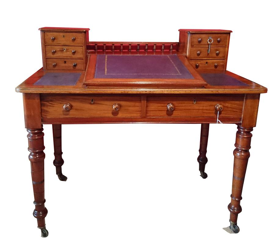 Escritorio antiguo de caoba siglo XIX mesa de despacho, Dickens desk