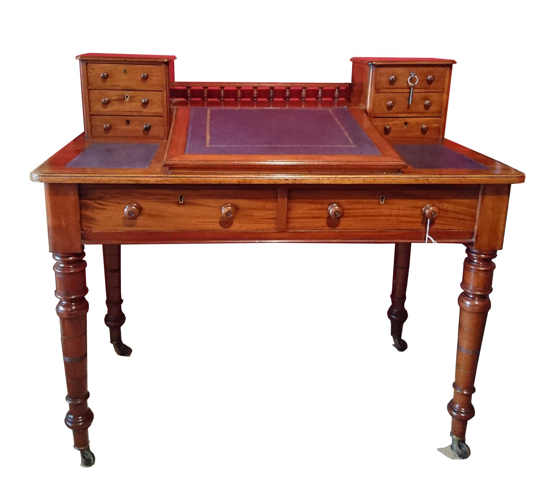 19th century mahogany Dickens writing desk