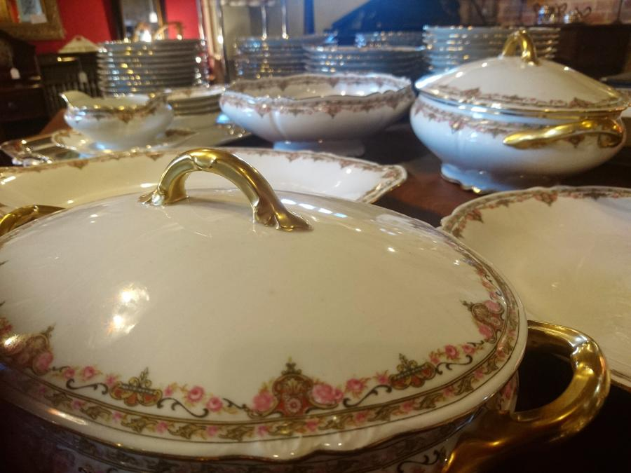 Antigue Limoges dinner service for twelve