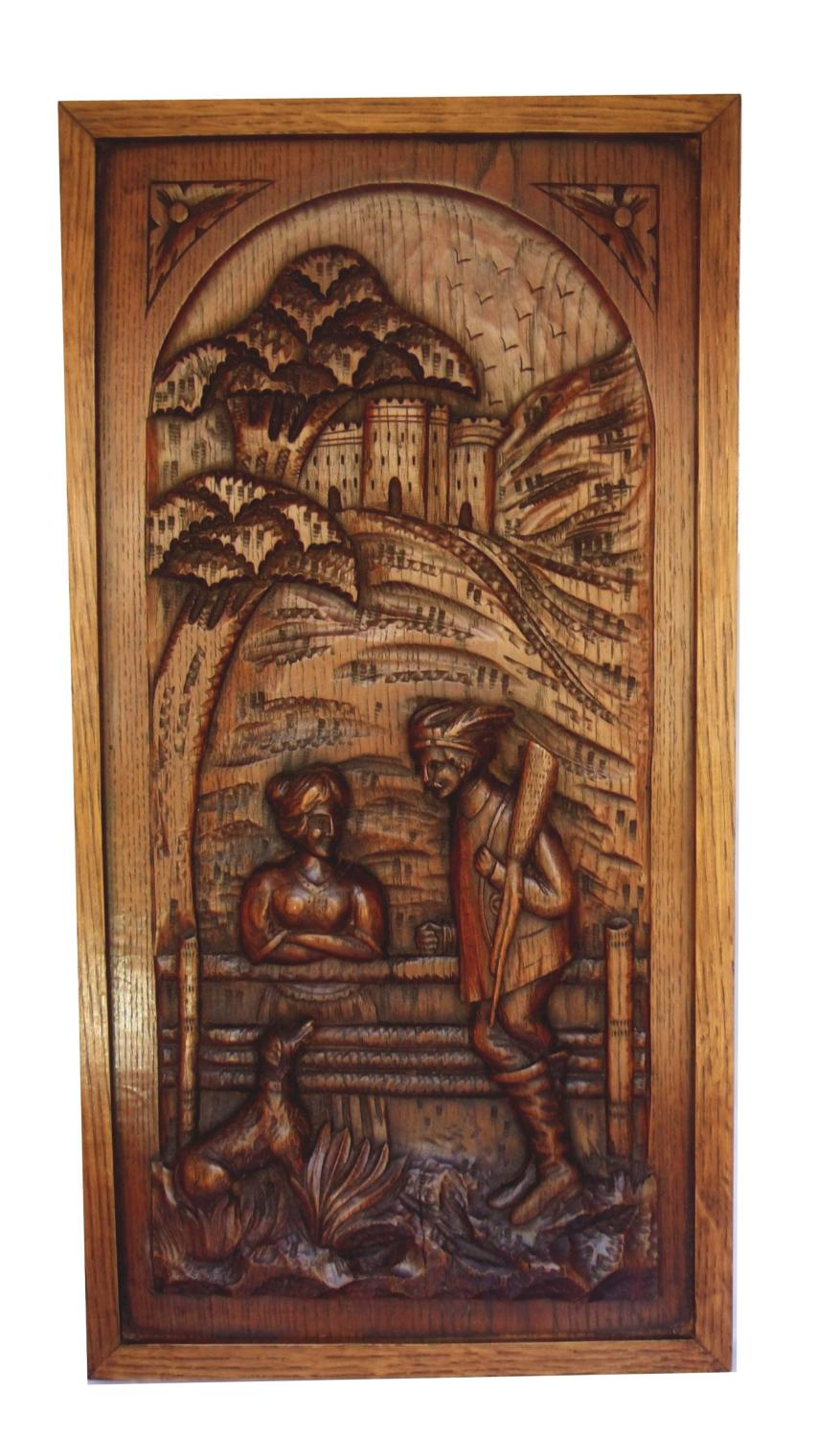 19th century Austrian carved wall plaque
