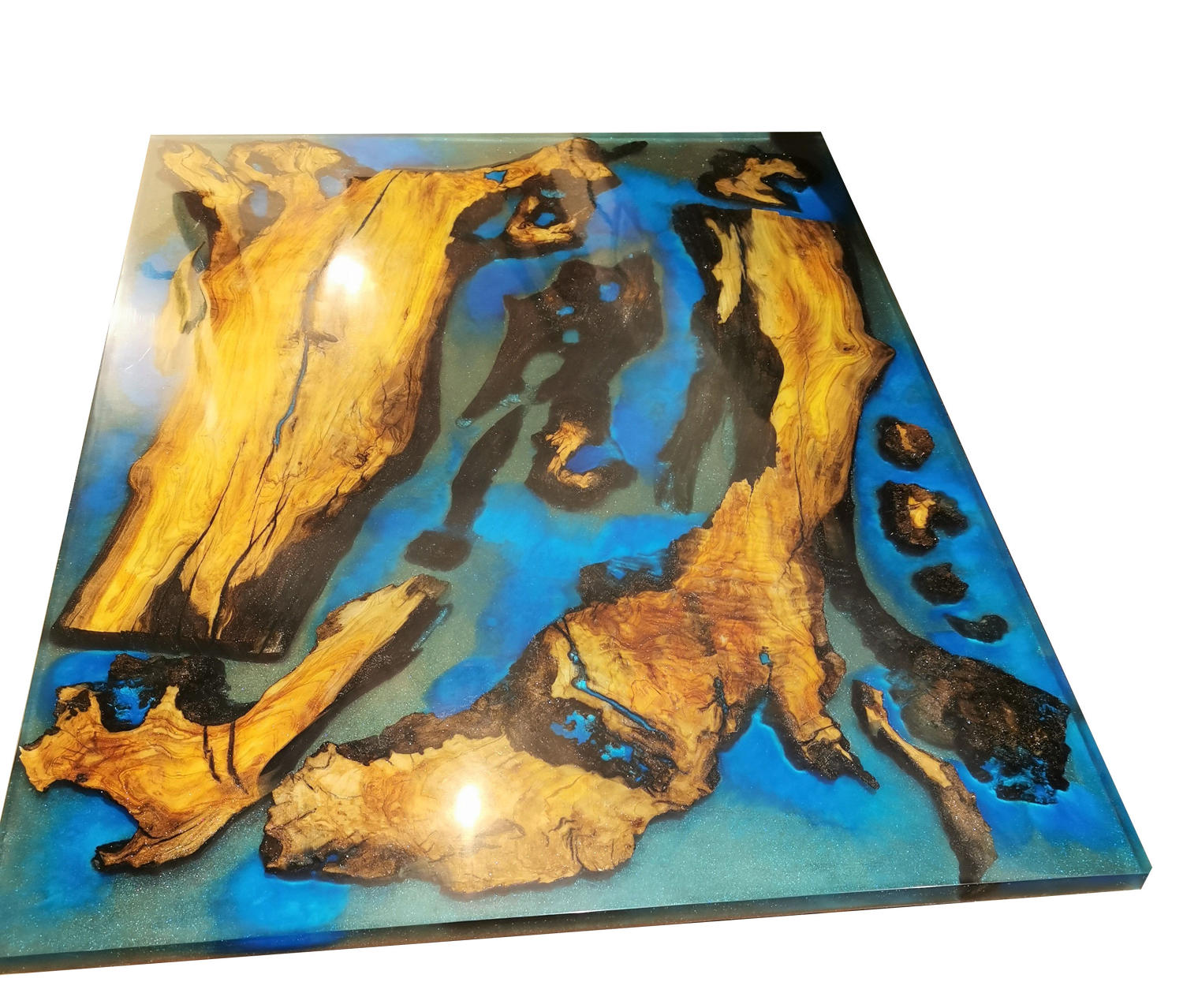 Contemporary resin coffee or dining table
