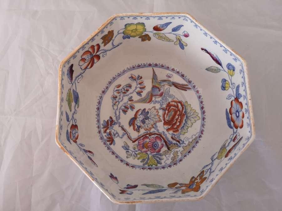 Mason's antique octagonal bowl