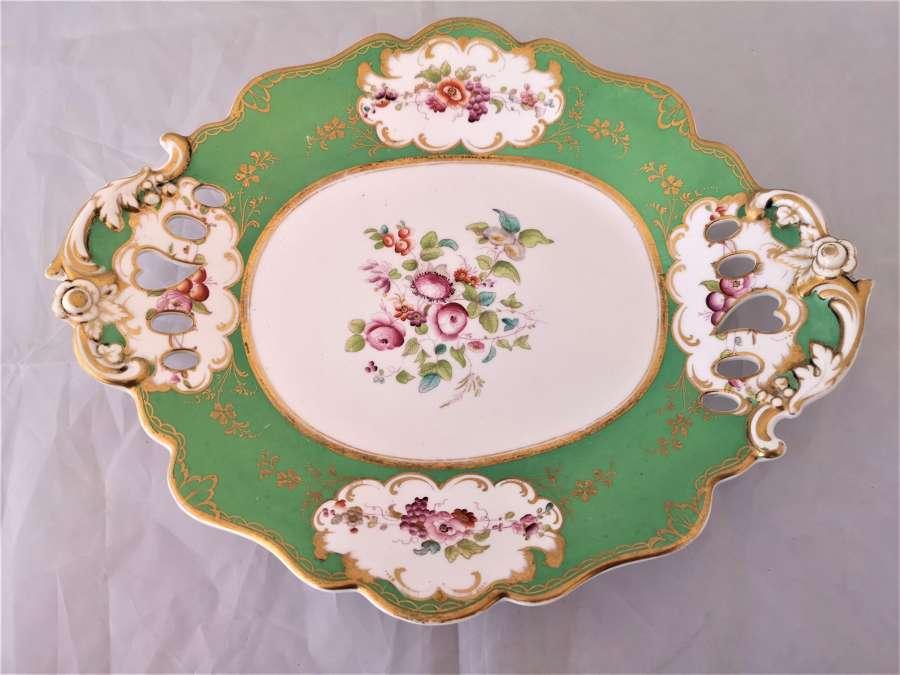 Antigua fuente porcelana inglés de Ridgway