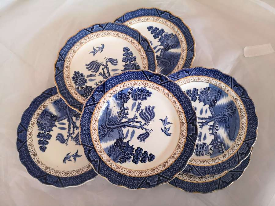 Six Booths Real Old Willow side plates