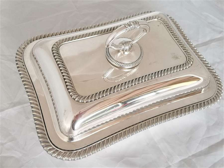 Walker and Hall silver plated entree dish