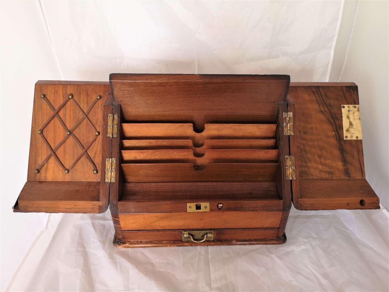 Mahogany early 20th century stationary box