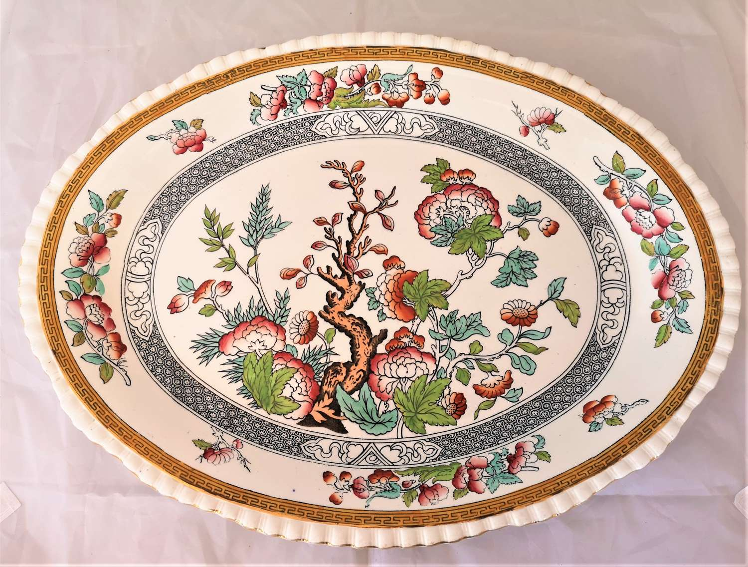 Antique 19th century large ceramic platter