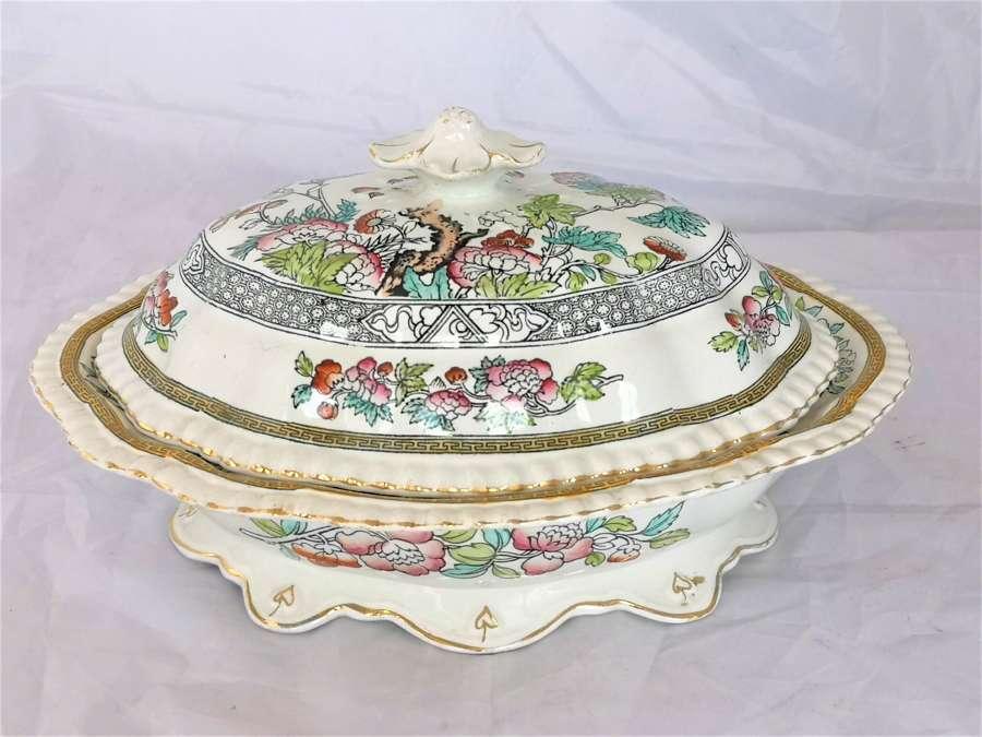 Antigua legumbrera ceramica de siglo XIX hecho por Adams