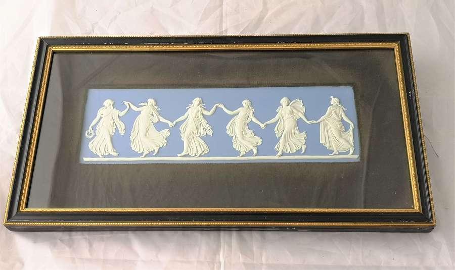 Placa de Wedgwood Jasperware de azul 'Dancing hours'