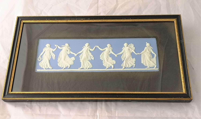 Wedgwood Jasperware blue plaque Dancing Hours