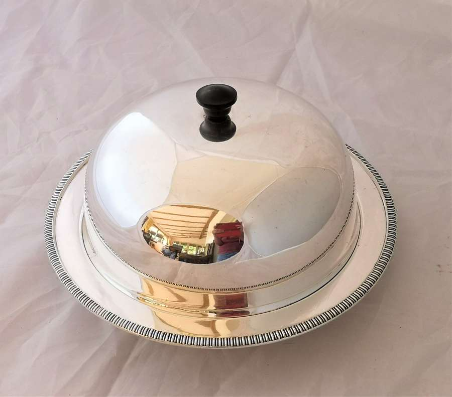 Harrods silver plated muffin dish with warmer