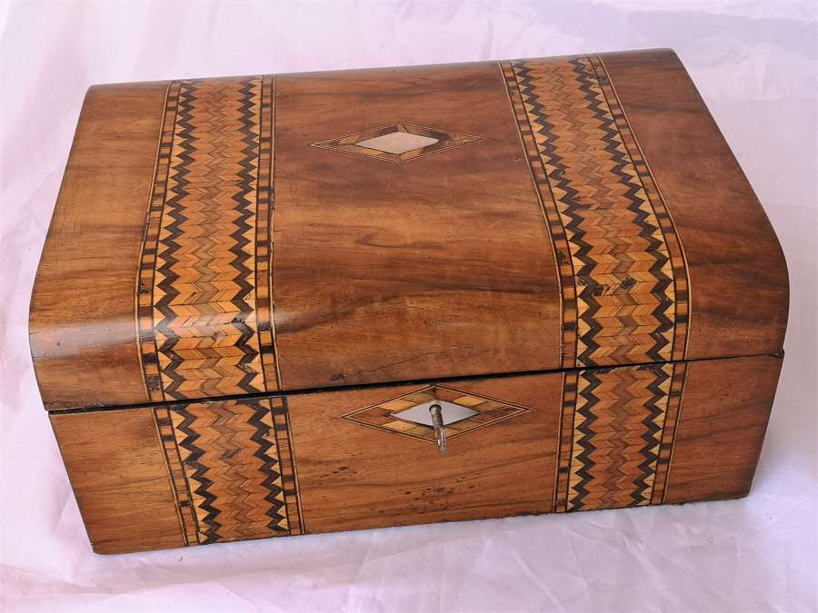 Early 20th century marquetry work box