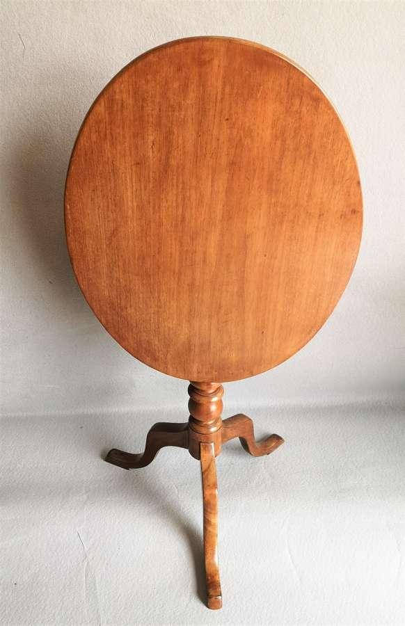 19th century mahogany tip top tripod table