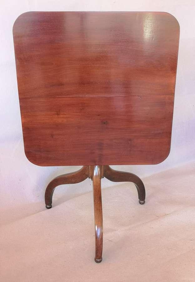 19th century tilt top cuban mahogany table