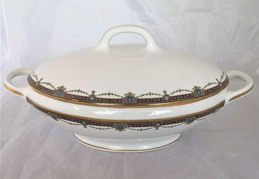 Sopera / legumbrera antigua de porcelana de Limoges