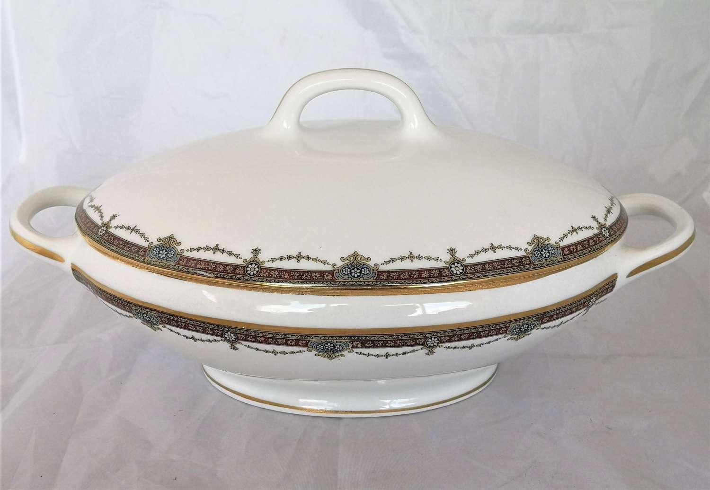 Large antique porcelain Limoges tureen