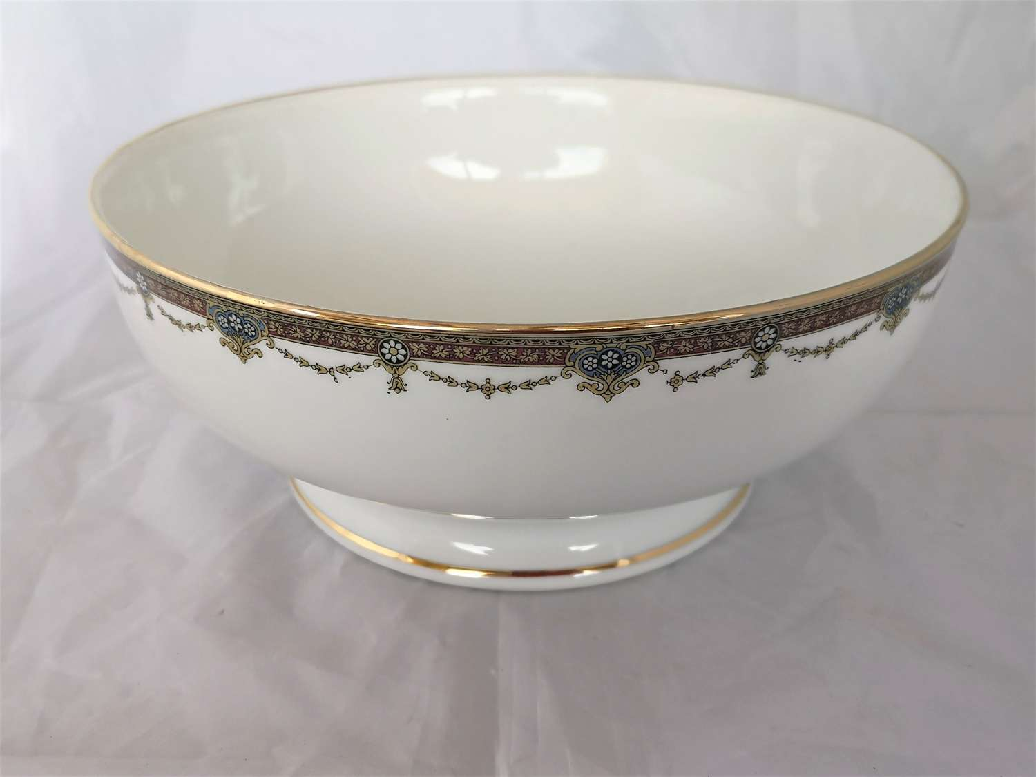 Antique Limoges large porcelain bowl